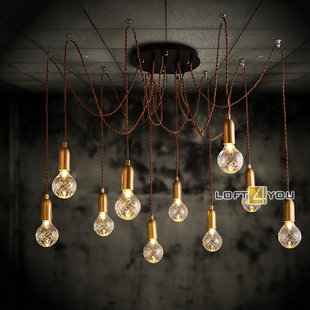 Industrial Edison Chandelier Retro