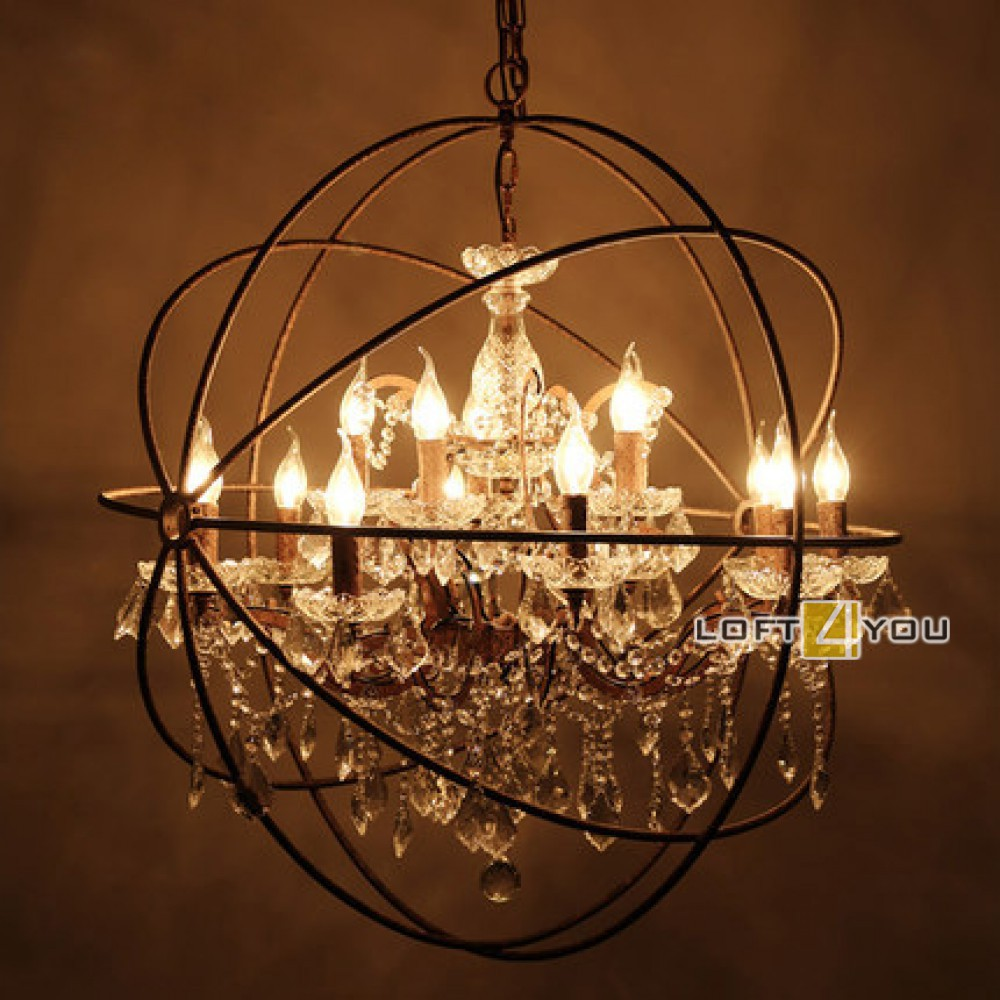 Restoration Hardware Foucault's Crystal Chandelier 8