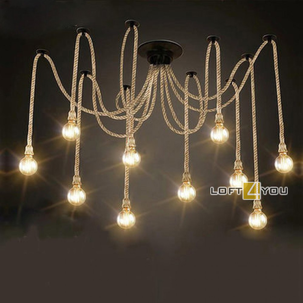 Industrial Edison Chandelier Rope