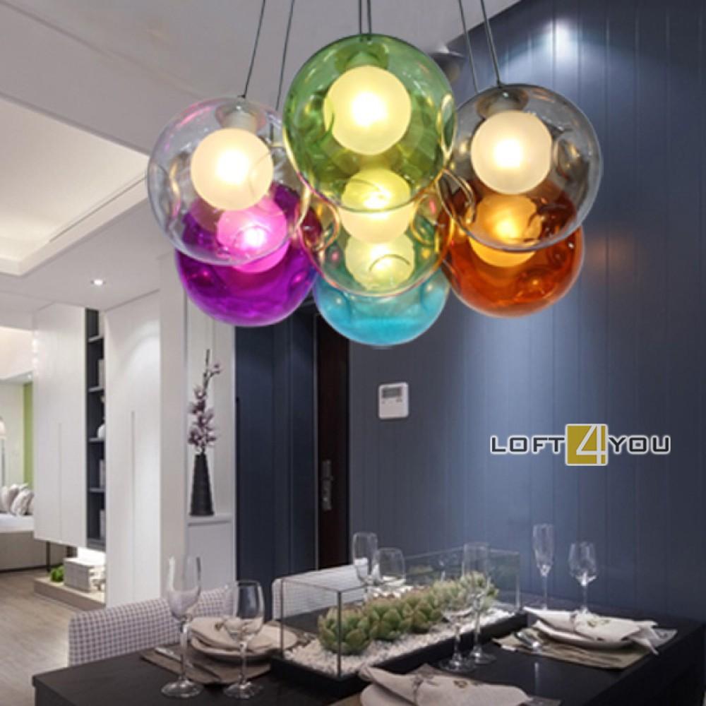 Multicollor Ball Glass Pendant