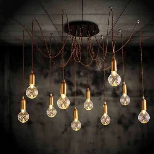Светильник LOFT Industrial Edison Chandelier Retro