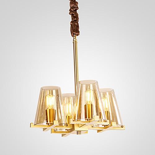 Дизайнерский светильник Anke Line Brass Chandelier