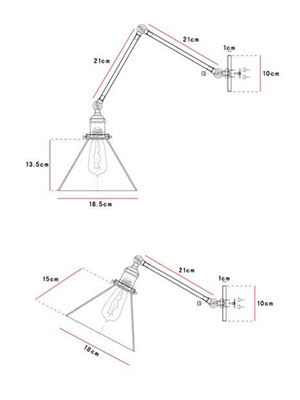 Gloce Cone Shade Loft Industrial Glass
