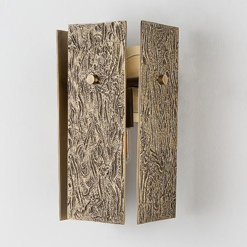 Дизайнерский бра Brass Cube Wall