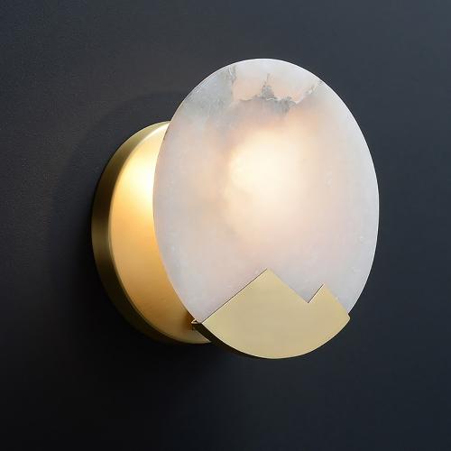 Дизайнерский бра Brass Marble Wall