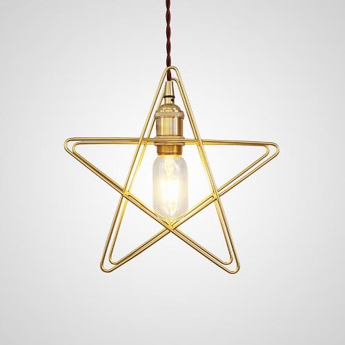 Дизайнерский светильник Brass Star Pendant