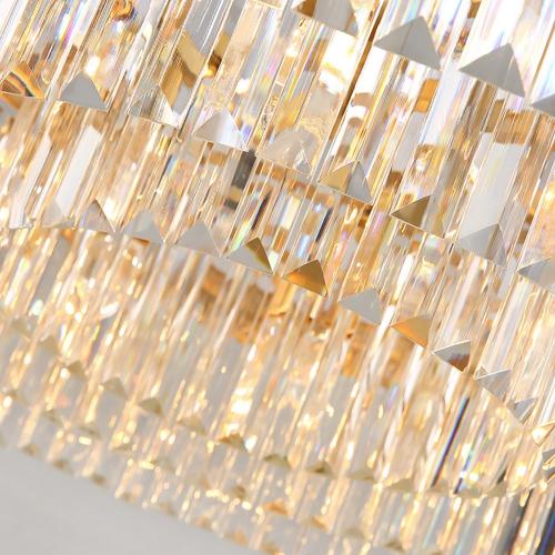 RH Rhys Clear Glass Prism Round Chandelie