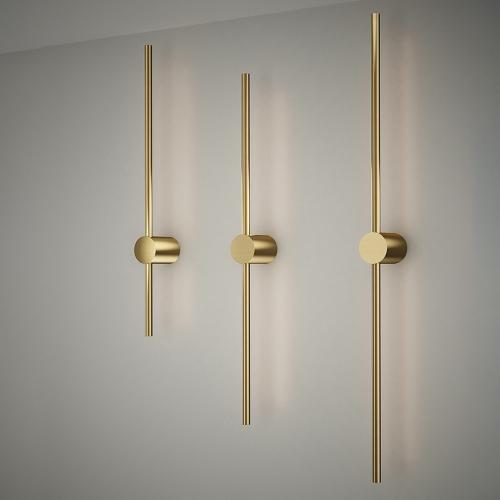 Дизайнерский бра Dots Line Brass 2