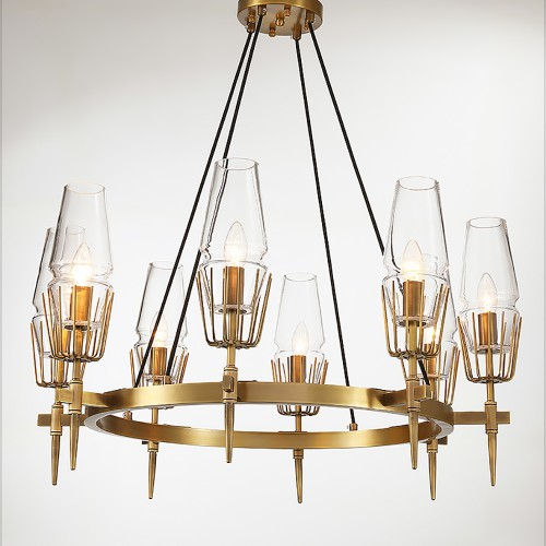 Fashion Brass Round Chandelier