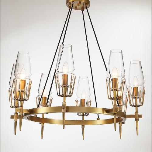 Дизайнерский светильник Fashion Brass Round Chandelier