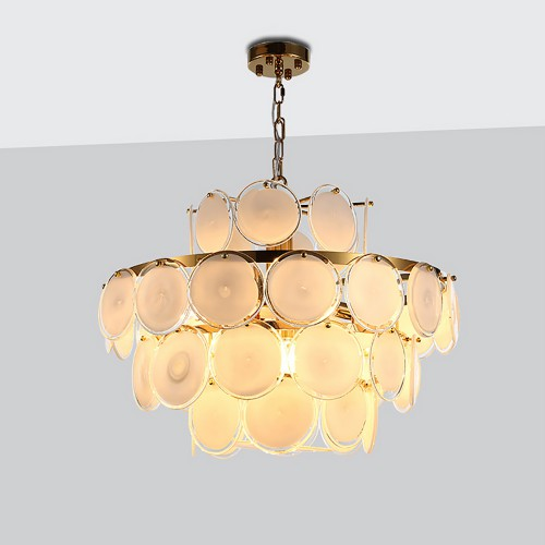 Fashion Gold Glass Chandelier