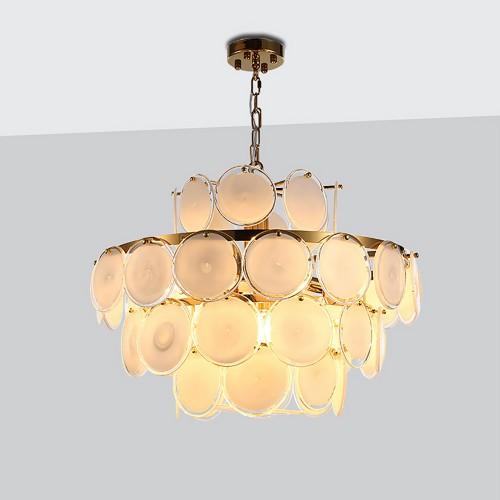 Дизайнерский светильник Fashion Gold Glass Chandelier