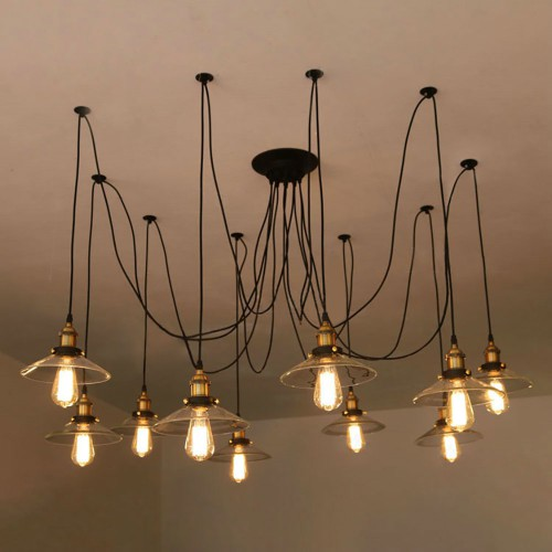 Светильник LOFT Glass Chandelier Spider 2