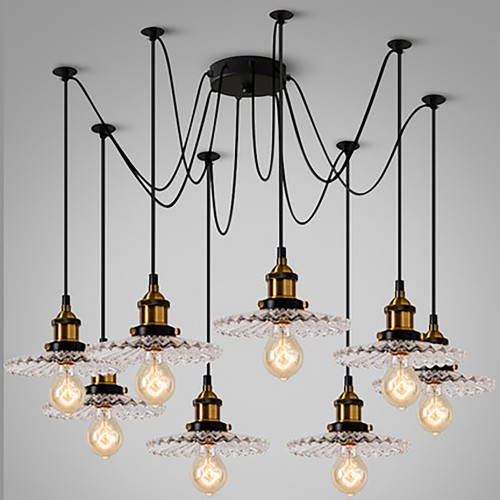 Светильник LOFT Glass Chandelier Spider 3