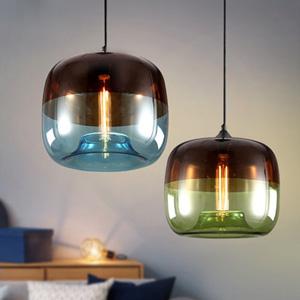 Дизайнерский светильник Glass Green/Blue