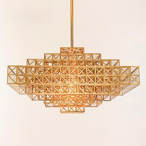 Дизайнерская люстра Gold Cage Sea Chandelier