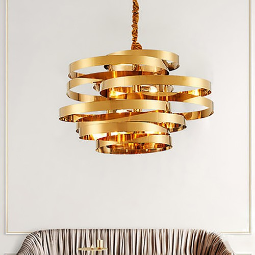 Golden Tornado Chandelier