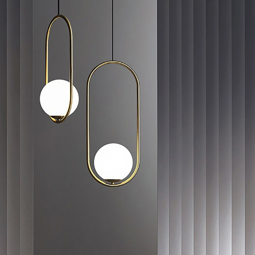 Дизайнерский светильник Hico Round Brass