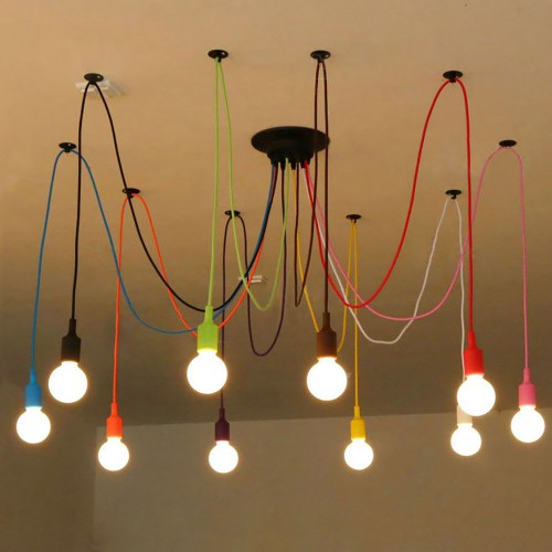 Подвесная люстра LOFT Industrial Edison Chandelier Multicolor