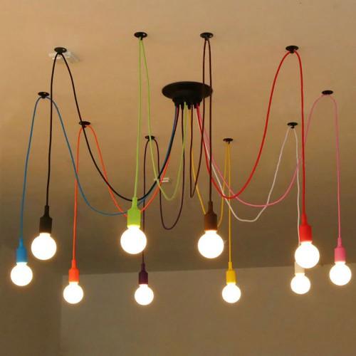 Светильник LOFT Industrial Edison Chandelier Multicolor