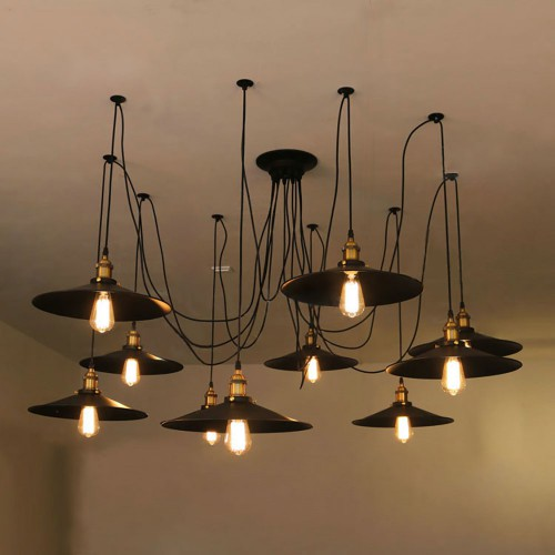 Подвесная люстра LOFT Industrial Edison Outdoor Chandelier