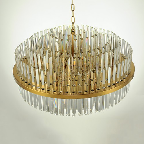 Kebo Brass Color Chandelier