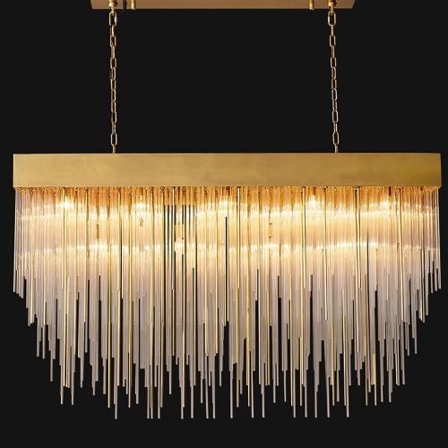 Дизайнерская люстра Kebo Brass Glass Rain