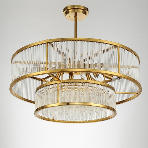 Kebo Form Brass Chandelier