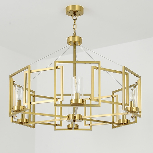 Kebo Form Brass Chandelier 2