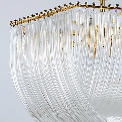 Kebo Brass Glass Lustre