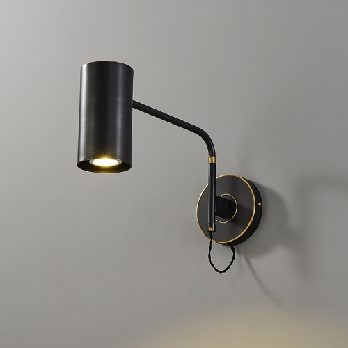 Дизайнерский бра Keep Brass Black Wall