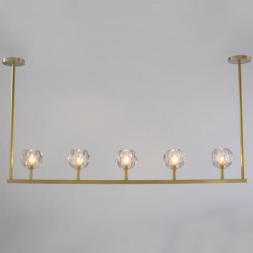 Дизайнерский светильник Lampadario Brass Line Chandelier 2
