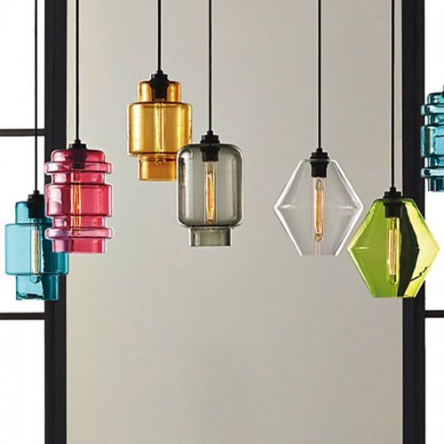 Подвесная люстра LOFT Multicolor Glass 5