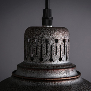 Industrial Old Iron Pendant