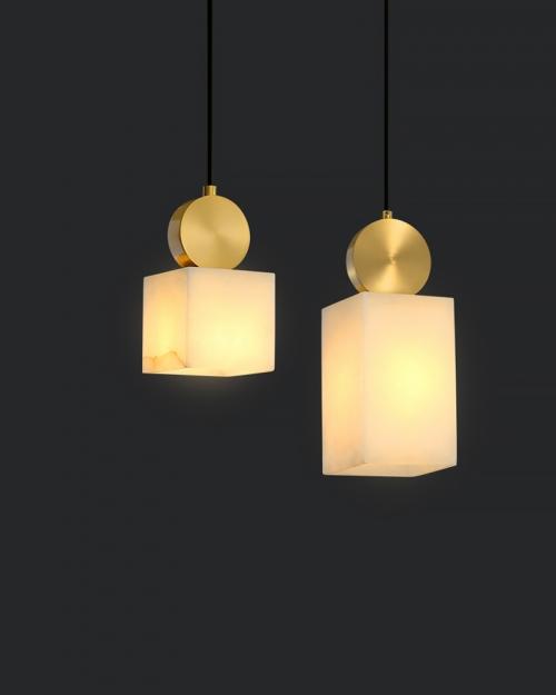 Дизайнерский светильник Lux Marble Brass 2