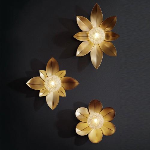 Дизайнерский бра Luxury Brass Modern Flower
