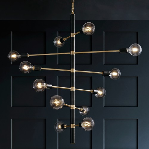 Дизайнерский светильник Luxury Modern Black Chandelier