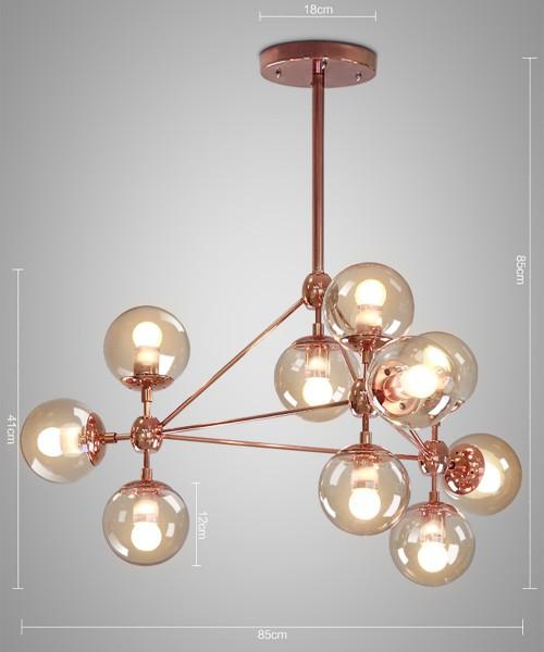 Modo Chandelier Copper