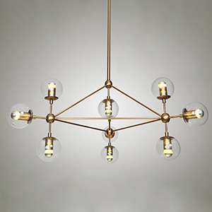 Modo Chandelier Brass Color