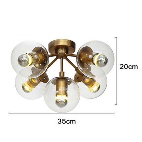 Modo Chandelier Brass Color