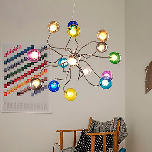 Светильник LOFT Multicolor Glass Spider