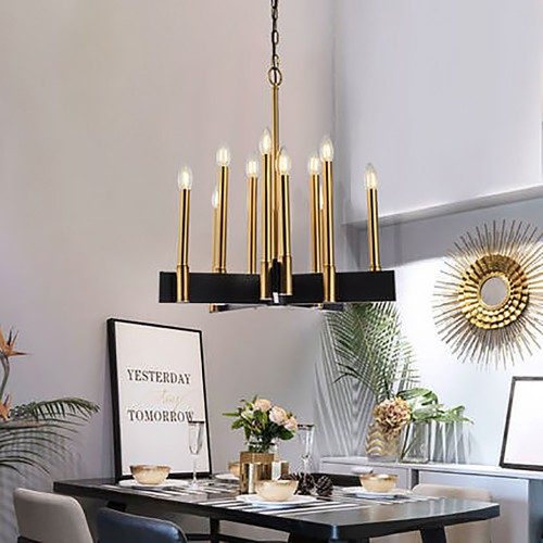 New Gold Step Chandelier