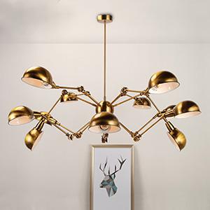 Дизайнерский светильник Golden spider