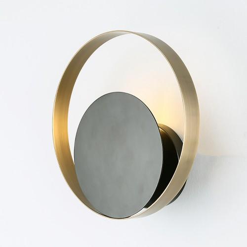 Дизайнерский бра Round Brass Wall