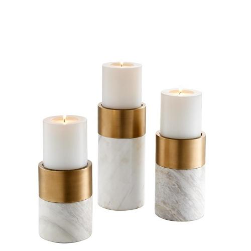 Sierra White Marble Brass Finish S\3 112090