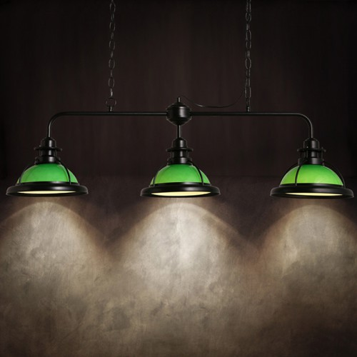 Светильник LOFT White/green Triple